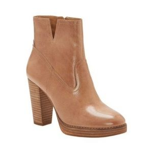 NWT Lucky Brand Leather Platform Block Heel Bootie